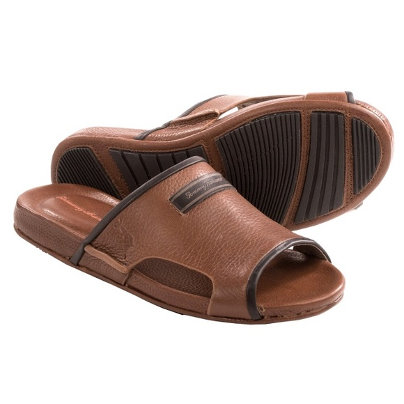 c127cdb9453 Tommy Bahama Shoes | Myer Slide Leather Sandal Mens 8 | Poshmark